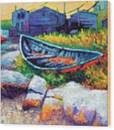 East Coast Boat Wood Print