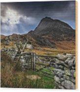 East Face Tryfan Snowdonia Wood Print