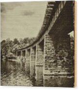 East Falls Rail Road Bridge Wood Print