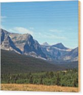 East Glacier Park Wood Print