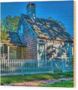 East Hampton Antique Cottage Wood Print