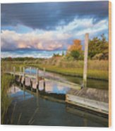 East Moriches Reflections Wood Print