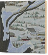 East Orange Vermont Wood Print