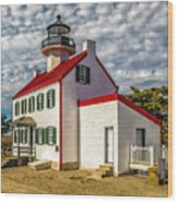 East Point Light -renovated Wood Print