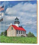 East Point Lighthouse Nj Wood Print