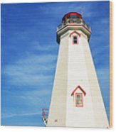 East Point Lightstation Prince Edward Island Wood Print