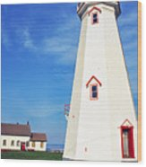 East Point Lightstation Wood Print