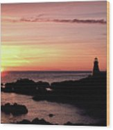 East Quoddy Head Sunup Wood Print