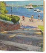 East River From Carl Schurz Park Wood Print