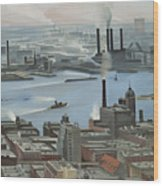 East River From Shelton Hotel Wood Print