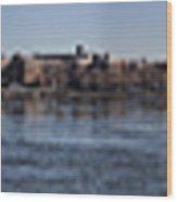 East River Panorama Wood Print