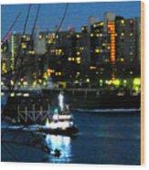 East River Traffic 2 New York Wood Print
