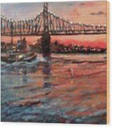 East River Tugboats Wood Print