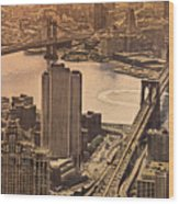 East River View Wood Print