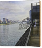 East River View Looking South Wood Print