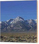 East Side Sierra Nevada Range Wood Print