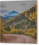East Spanish Peak Wood Print