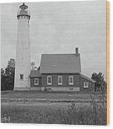East Tawas Lighthouse  Wood Print