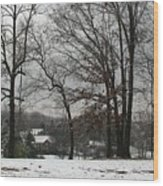 East Tennessee Winter Wood Print