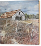 East Texas Barn Wood Print