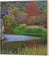 East Trail Pond At Lost Maples Wood Print