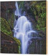 Eastatoe Falls Detail #8 Wood Print