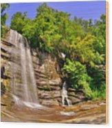 Eastatoe Falls/twin Falls 2 Wood Print