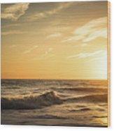 Eastcoast Sunset Wood Print