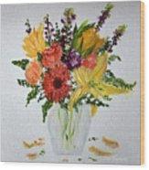 Easter Arrangement Wood Print