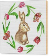 Easter Background Wood Print