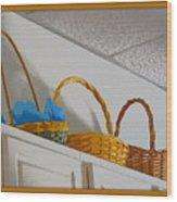 Easter Baskets Wood Print