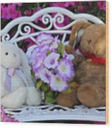 Easter Bunnies Wood Print