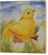 Easter Chick Wood Print