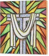 Easter Cross 5 Wood Print