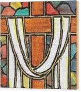 Easter Cross 6 Wood Print