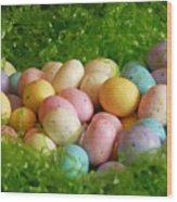 Easter Egg Nest Wood Print