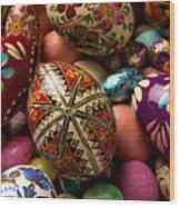 Easter Eggs Wood Print