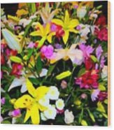 Easter Flowers Wood Print