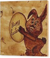 Easter Golden Egg For You Wood Print