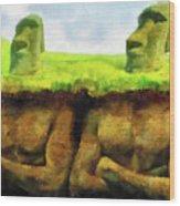 Easter Island Truth Wood Print