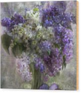 Easter Lilacs Wood Print
