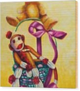 Easter Made Of Sockies Wood Print