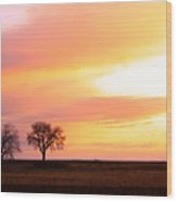 Easter Morning Sunrise Wood Print