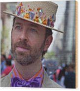 Easter Parade 2011 Straw Hat Wood Print