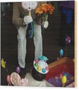 Easter Parade Visit Wood Print
