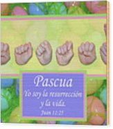 Easter Spanish Wood Print