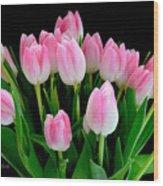Easter Tulips  Wood Print
