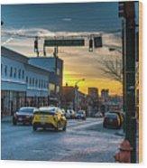Eastern Avenue Sunset Wood Print