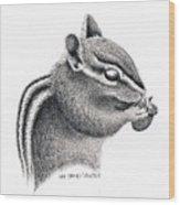 Eastern Chipmunk Wood Print