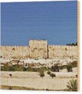 Eastern Gate Temple Mount Wood Print